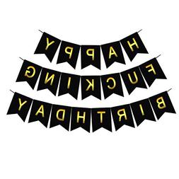 Threemart Happy FING Birthday Decorations Banner,Funny 21st