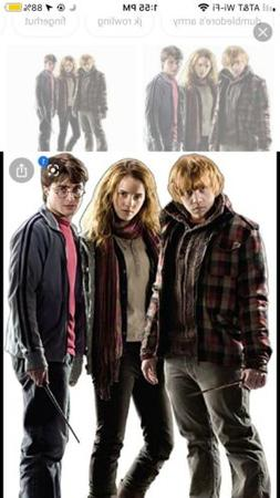Harry Hermione & Ron Harry Potter 7 Cardboard Cutout Party D