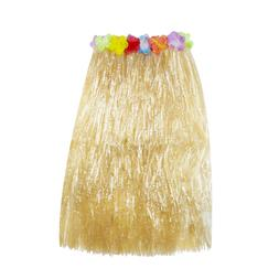 Hawaiian Luau String & Colorful Silk Flowers Hula Grass Skir