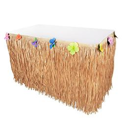 Super Z Outlet Hawaiian Luau Table Grass Skirt Hibiscus Stri