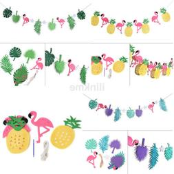 Hawaiian Tropical Flamingo Pineapple Summer Party Decor Bann