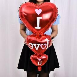Heart Foil Balloons I Love You Birthday Wedding Party Annive