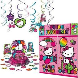 Hello Kitty Rainbow Decoration Party Supplies Pack Includes: