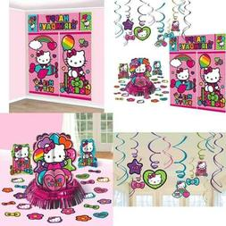 Hello Kitty RAINBOW Decorations Birthday Party Supplies Pack