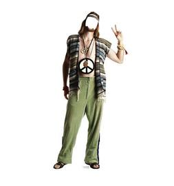 Hippie 1970's Stand-In Lifesize Party Decoration Cardboard C