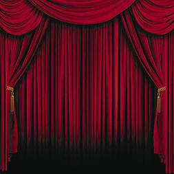 HOLLYWOOD Movie Magic Show Circus Party Photo Booth RED CURT
