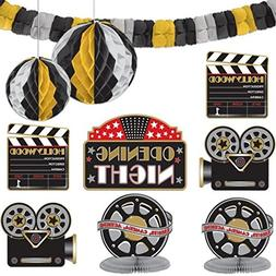 Amscan Hollywood Movie Themed Party Decorating Kit , Black/G