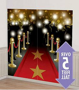 HOLLYWOOD RED CARPET movie night SCENE SETTER party wall dec