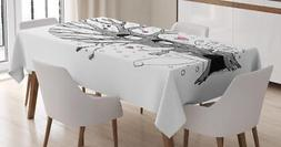 Illustration Tablecloth Ambesonne 3 Sizes Rectangular Table