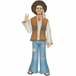 "Jointed 3-Foot Male Hippie 37"" Hippy 1960's 60s Birthday Par"