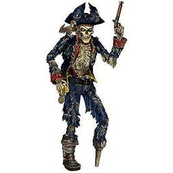 Jointed 6 Foot Pirate Skeleton Birthday Halloween Party Wall