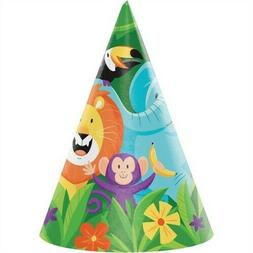 Jungle Safari Child Size Hats 8 Pack 1st Birthday Party Deco