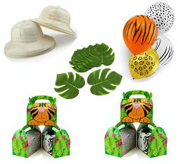 Jungle Theme Safari Birthday Party Bundle for 12 Kids Decora