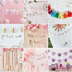 Kids Childrens Birthday Party Decorations Banner Bunting Foi