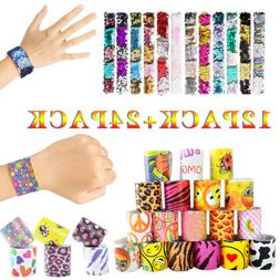 Kids Creative Slap Bracelet Snap Wristband Birthday Party Su