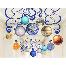 Kids Gift Dangling Streamer Room Birthday Party Solar System