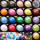 "10 100 Latex Balloons - 12"" Inch - 20 Colours To Choose - We"