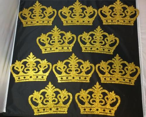 10 pcs Baby Shower Royal Prince/ Princess Foam gold crown Pa