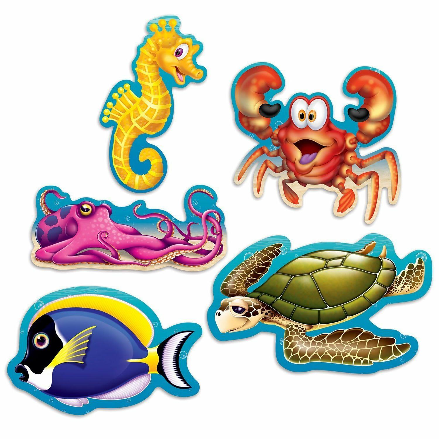 10 UNDER THE SEA Ocean Beistle Party Decorations Mini SEA CR