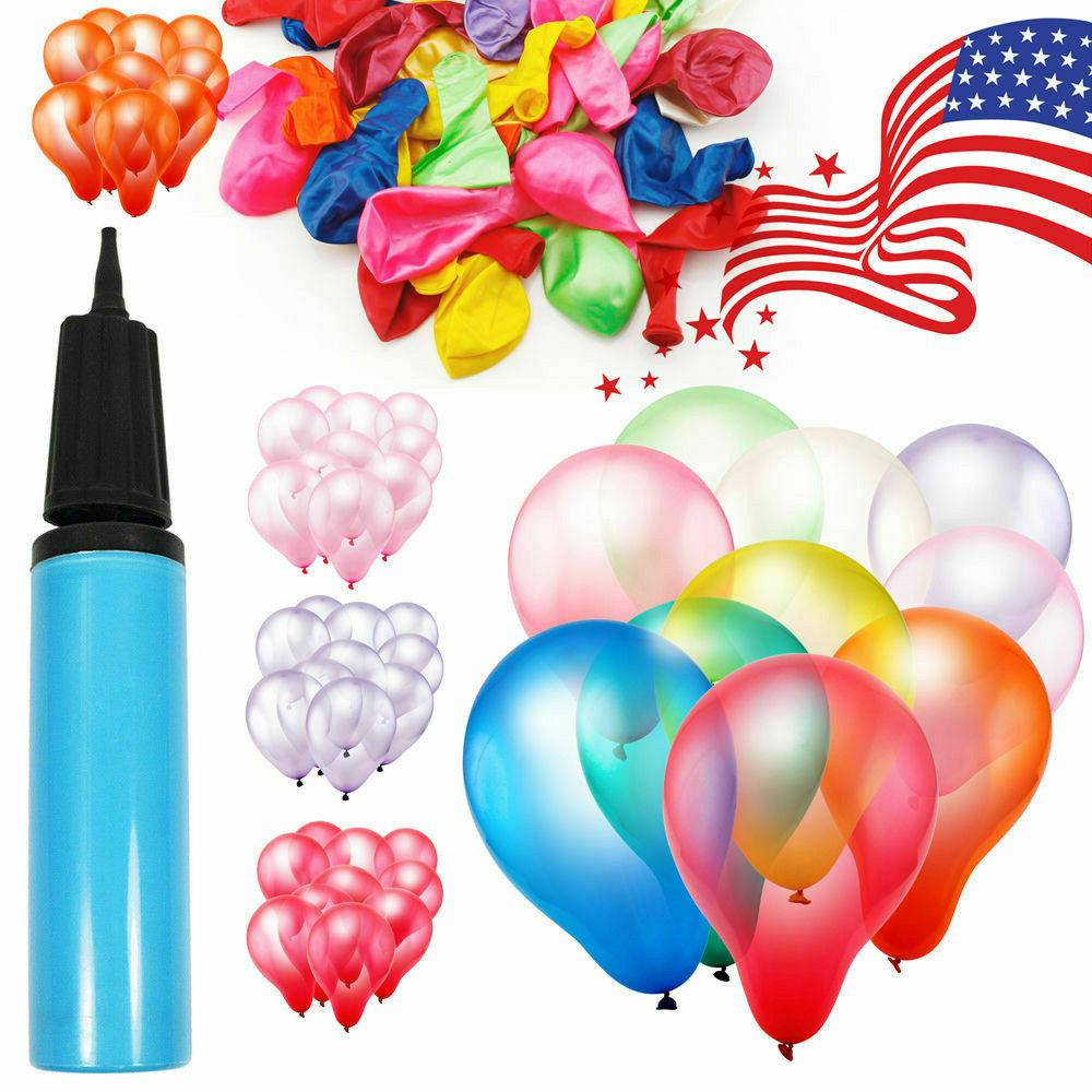 100pcs 12 inch colorful balloon festival holiday