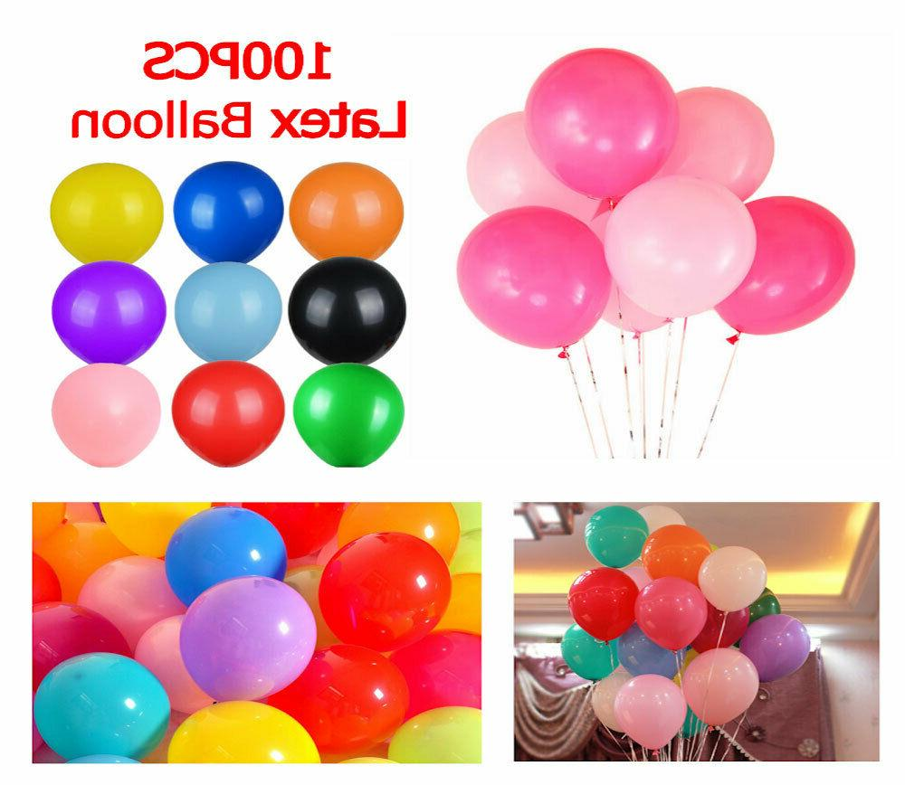 100pcs Balloons Latex Birthday Party Colorful 10 Inch