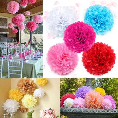 "10pc 8'', 10"", 14'' Tissue Paper Pom Poms Flower Balls Weddi"