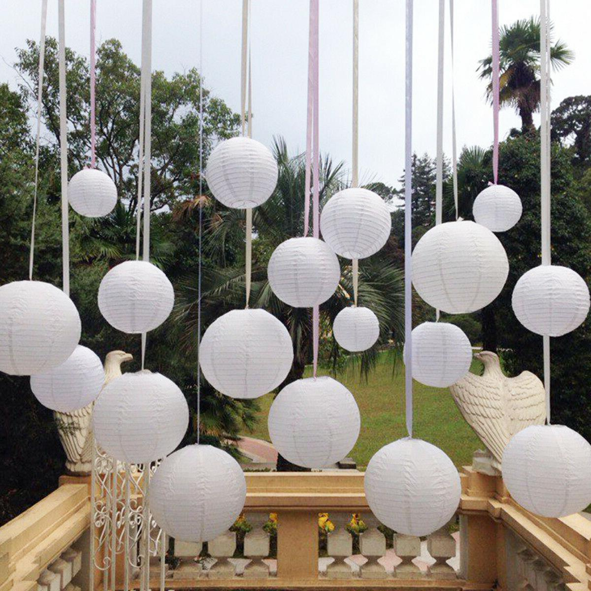 10pc White Chinese Paper Lanterns GRADUATION Party Decoratio