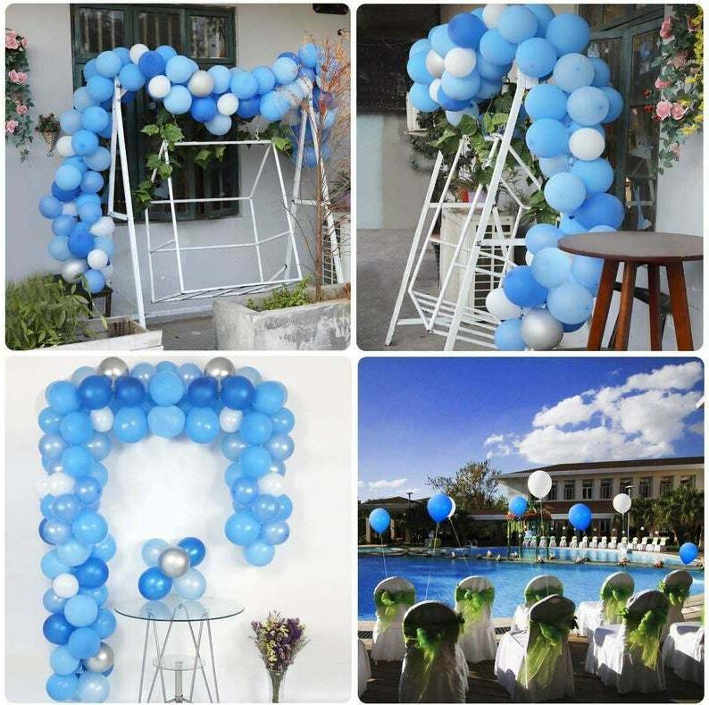 Shower Decorations Kit Blue Silver White + More