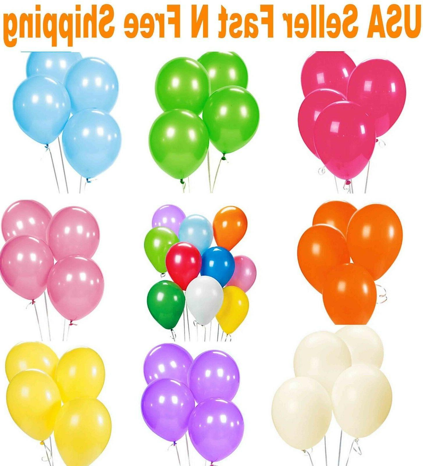 12 latex balloons 25 50 100 150