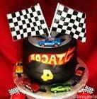12 Nascar Party CAKE Toppers Checkered Racing Flags Race Car