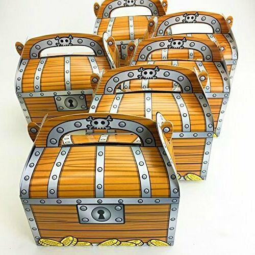 Adorox 12 Pack Pirate Treasure Chest Decoration Party Favor