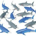 12 shark party figures decorations favors prizes