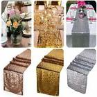 "12""x108"" Gold Sequin Table Runner Wedding Party Decorations"