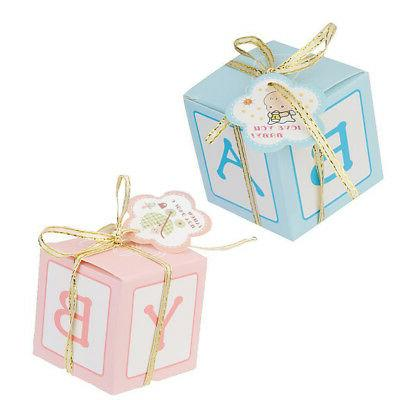 12 x Baby Shower Favours Candy Box Christening Gift Baptism