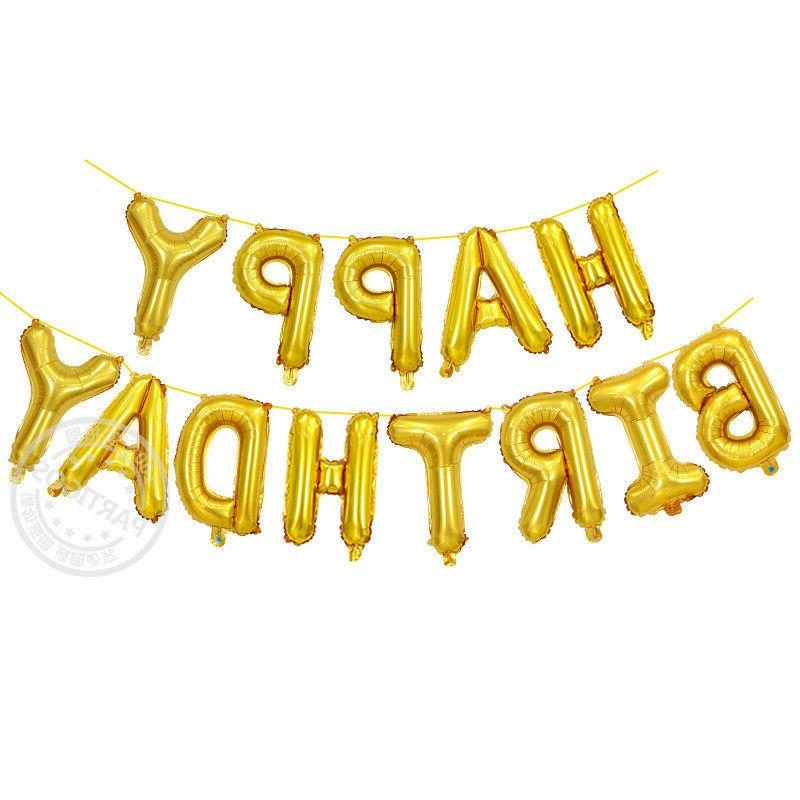 13Pcs/set HAPPY Letters Foil Balloons Decoration 16inch