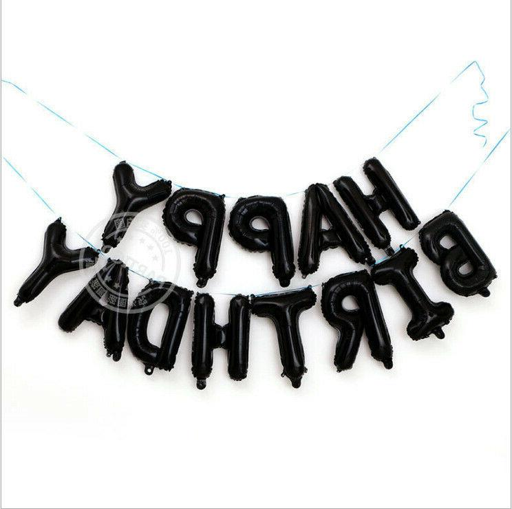 13Pcs/set Letters Foil Balloons Birthday Party Decoration 16inch