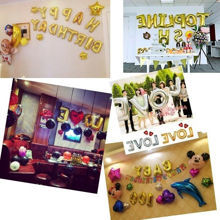 "16""/32'' Silver/Gold Letter Foil Balloon Party"
