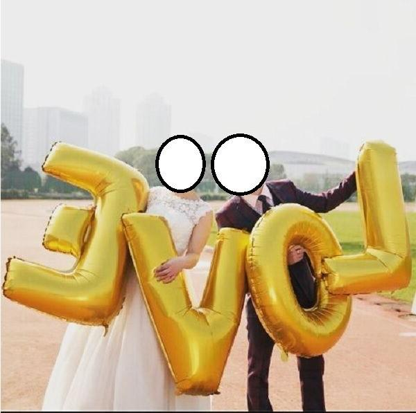 """16"""" Silver Letter Number Balloon Wedding"""