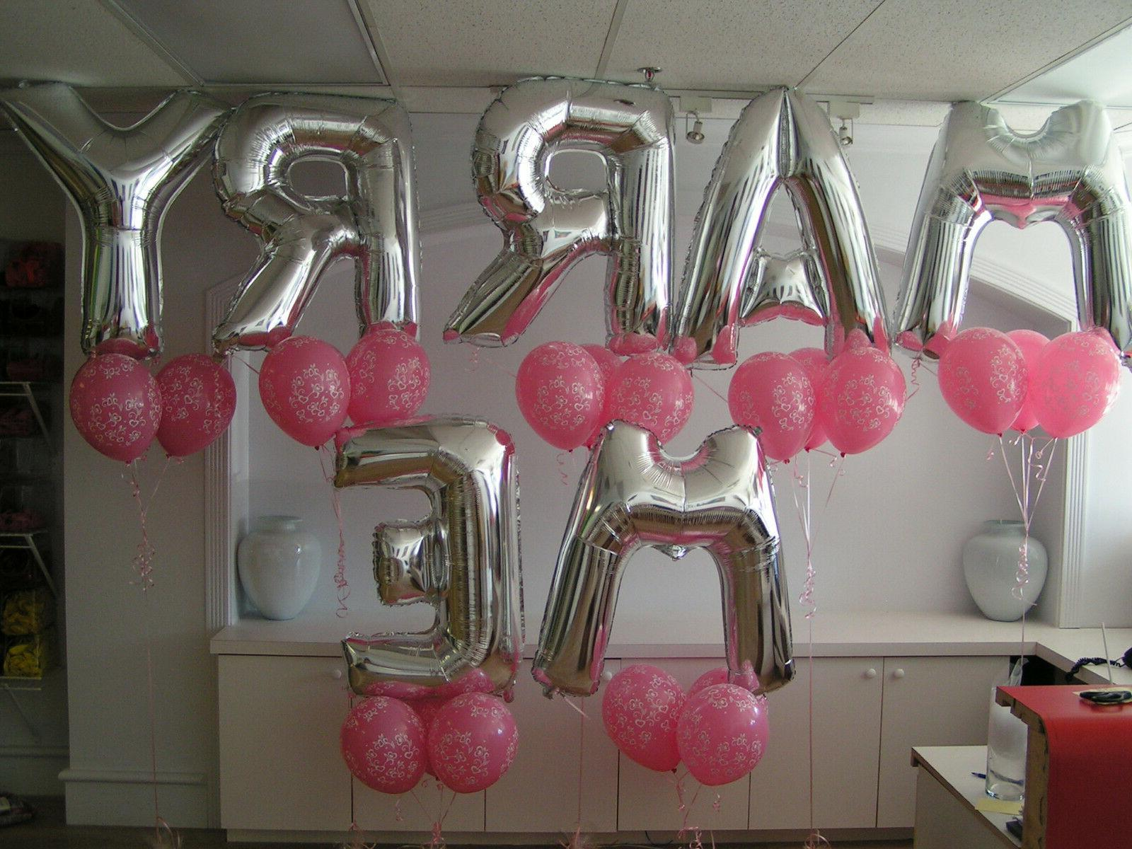 "16"" Letter Number Balloons Party Birthday Wedding"