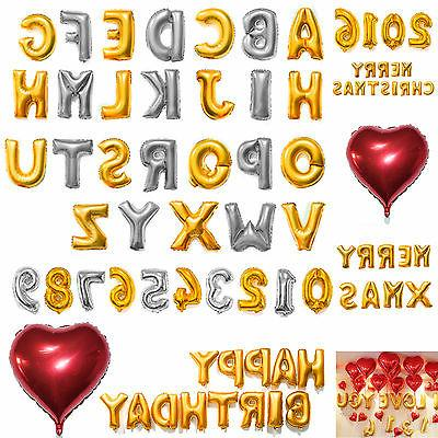 "16"" 42"" Foil Letter Number Heart Huge Balloons Birthday Wedd"