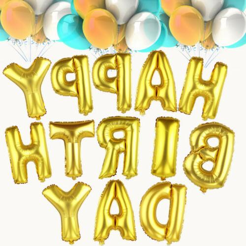 "16"" Happy Birthday Balloons Letter Foil Supply"
