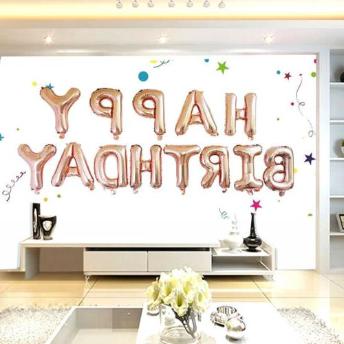 "16"" Happy Letter Foil Birthday Supply Banner Decorations"