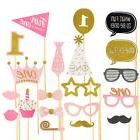 1st Birthday Photo Booth Props Boy Girl First Party Kids Dec