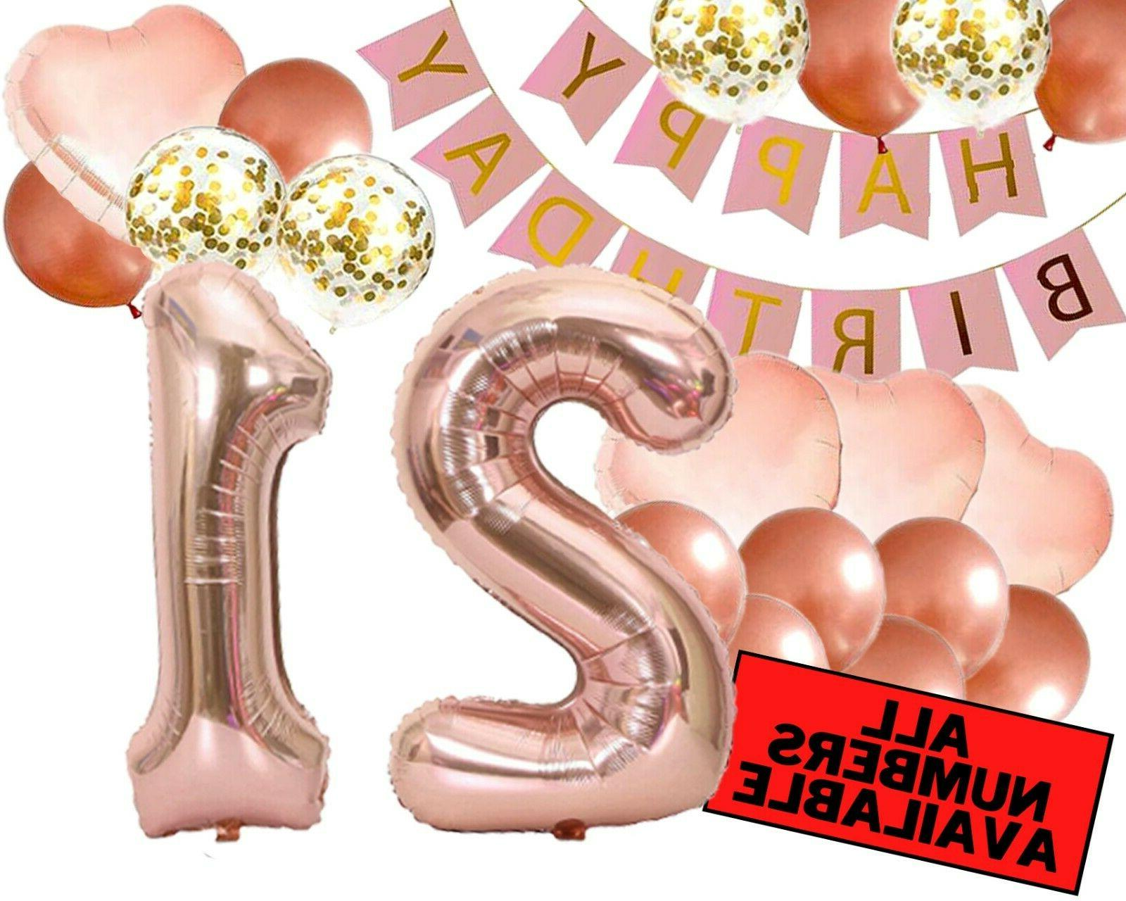 21st birthday decorations for her pink