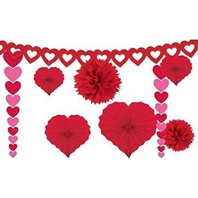 Amscan 240184 Valentine's Paper Kit Party-Decorations, One Size,