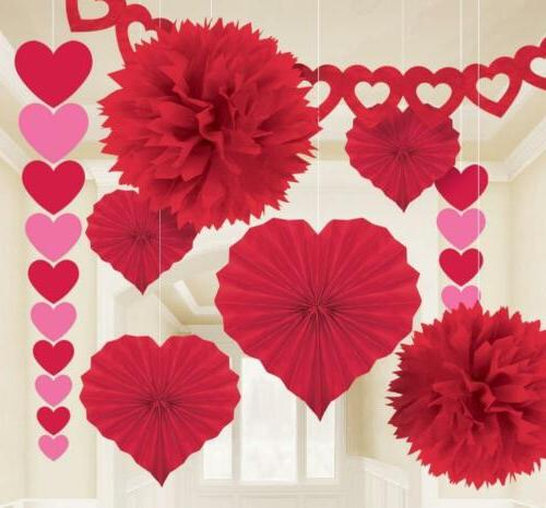 Amscan Valentine's Day Paper Party-Decorations, One Size,