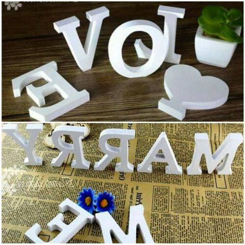 26 Wooden Freestanding Letters Love Alphabet Wedding Party H