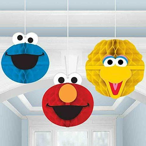 299597 sesame street honeycomb decorations party supplies