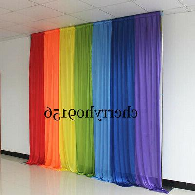 3*3M color wedding backdrop drapery event party