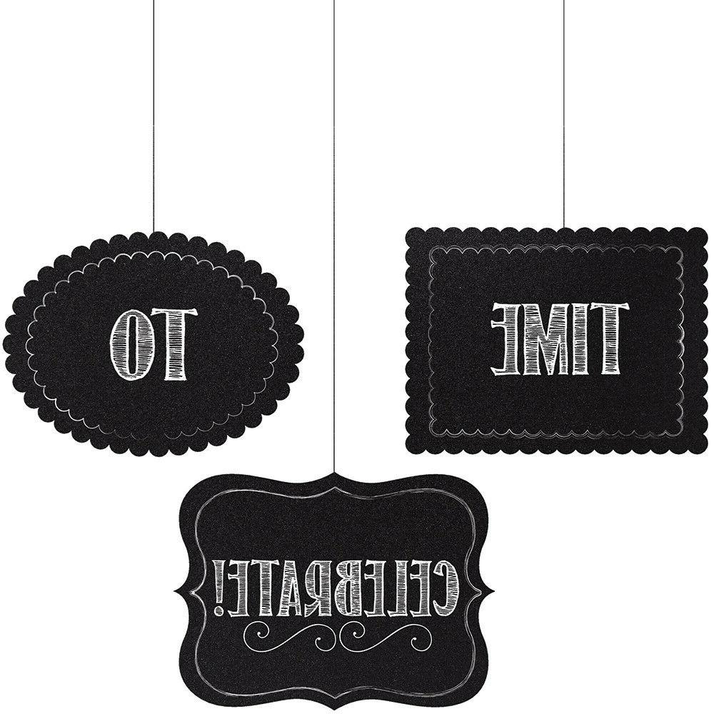 3 chalkboard hanging cutouts personalize decor baby